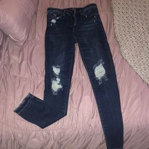 Abercrombie dark wash high waisted jeans